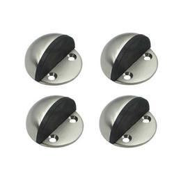 Wholesale DS002BN Solid Stainless Steel Floor Door Stopper Stops Screw Mount Pack Brushed