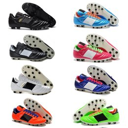 2016 Men Copa Mundial Leather FG Soccer Shoes Hot Soccer Cleats 2015 World Cup Football Boots Size 39-45 Black White Orange botines futbol