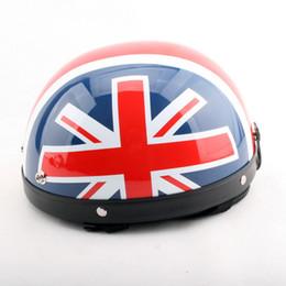 Wholesale Fashion British Union Jack British motorcycle helmet electric bicycle helmets Summer half face Harley models helmet of ABS