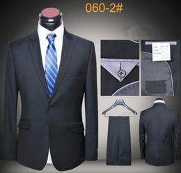 Latest coat pants designs suits men slim fit business uniform luxury wool high quality suit blazers one button gray black blue
