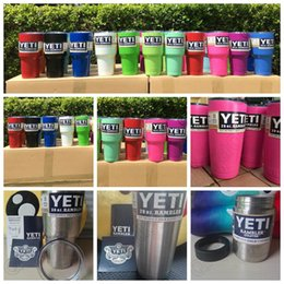 Wholesale In Stock Color YETI Rambler Tumbler Cup Yeti Bilayer Water Bottle Vacuum Insulated Cup Tumbler Mugs Yeti Rambler Bottle CCA4829