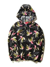 Wholesale Autumn New Men Fashion Jackets Girls Hooded Coats Teenagers Outwear Banana Prints Trend Coat