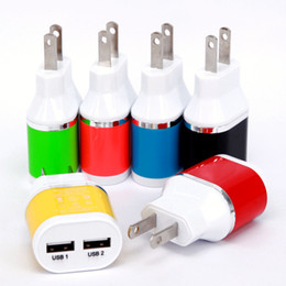 Wholesale New Arrival US Plug Dual colors Business Wall Chargers Dual USB A AC Travel Home Power Adapter Wall Charger For iphone6s samsung s7 s6