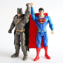 Batman v Superman Dawn of Justice 15CM Batman+Superman with light action figure Toy Justice League Batman vs Superman toys free shipping