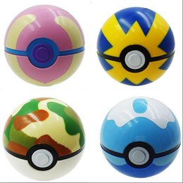 Wholesale New Pikachu Figure Toys with Pokeball Cosplay Pop up Poke BALL Shell Collection Baby Dolls Kids Gift Brinquedos