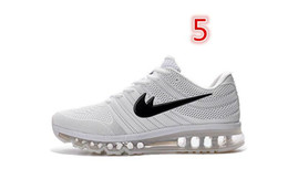 Cheap max 2017 Men running shoes Hot selling Original quality maxes 2017 cushion sneaker for mens Newest release sneaker size US7-11