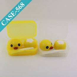 Wholesale Cutie Contact Lens Case Yellow Duck Contacts Box Popular Eyeglasses Box