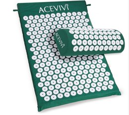Brand Massager Cushion Acupressure Mat Relieve Stress Pain Acupuncture Spike Yoga Mat with Pillow Free Shipping