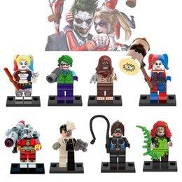 Wholesale DC Harley Quinn Villain Deadshot Posion Lvy Scarecrow Two Face Minifigure Building Blocks Toy XINH X0113
