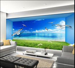 3d wallpaper custom photo non-woven mural wall sticker 3 d Seaview room living room painting picture 3d wall room murals wallpaper