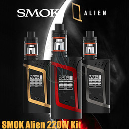 Wholesale Authentic SMOK Alien W Starter Kit VW TC Box Mod Smoktech TFV8 Baby Tank ohm V8 Baby Q2 ohm Baby T8 Core Vapor Mods ecigarette DHL