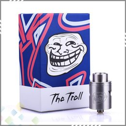 Wholesale Authentic WOTOFO The Troll V2 RDA Rebuildable Dripping Atomizers Two Post Deck PEEK insulator fit E Cigarette DHL Free