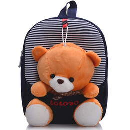 Wholesale Children school bags backpack kindergarten girls boys kid backpack cute cartoon toys bear ribbons bow hot sale
