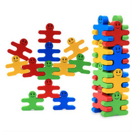 16pcs NEW Wood creative cartoon balance villain stacked music building blocks children wood children early childhood education boy