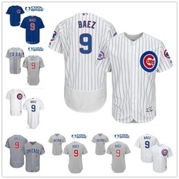 Wholesale Chicago Cubs Javier Baez with Years at Wrigley Field Commemorative Patch White Gray Blue Baseball Jerseys