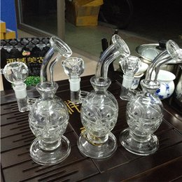 glass bong with Domeless Titanium nail Faberge Water pipe Glass Bongs Water Pipes Recycler Filter Percolators Smoking
