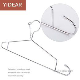 Wholesale Dia mm Length cm cm cm Stainless Steel Strong Anti Wind Non Slip Metal Wire Hangers Clothes Hangers Racks