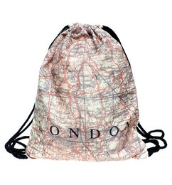 Wholesale D Printing With London Map Pattern Women Drawstring Bag Outdoor Backpack High Quality Backpacks SKD11