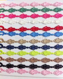 Wholesale Fashion New design hand shape friendship bracelet machine woven hand cotton lace bracelet for women bracelet gold
