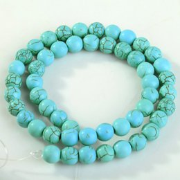 Wholesale A Strand Round Loose Turquoise Charm Spacer Beads For Jewelry Making Bracelet Necklace mm mm mm mm