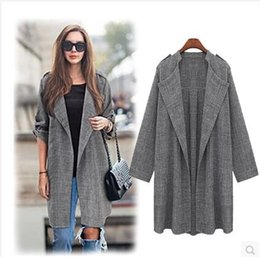 Wholesale New bigger sizes in spring and summer dress is prevented bask in trench coat in female loose show thin thin paragraph long cardigan