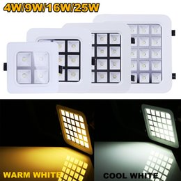 Wholesale DHL Free Led Panel Light W W W W Square LED Ceiling Wall Lighting Recessed Downlight Embedded Grille Panel Light