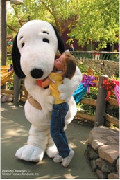Adult size dog Snoopy Mascot Costume Halloween Party Costume Costume Snoopy dog mascot free shipping