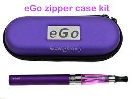 E Cigarettes Starter Kits Ce4 eGo E Cig CE4 eGo Starter Kit Electronic Cigarette Zipper Case Package Single Kit 650mAh 900mAh 1100mAh