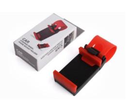 Volant pour les vélos à vendre-Universal Car Steering Wheel Téléphone portable Socket Holder Clip voiture Bike Support Mount Flexible téléphone iphone GPS Holder étendre à 76mm Free DHL