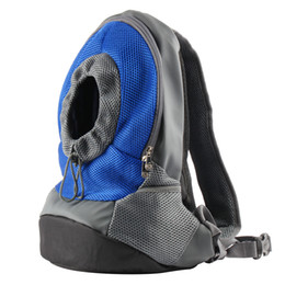 Wholesale REAMIC pet travel backpacks small dog and for cat outdoor both shoulder bag easy To Use rose red and blue