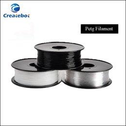Wholesale PETG D Printer Filament Acid Alkaline Resistant mm mm kg spool Plastic Material With Excellent Tenacity