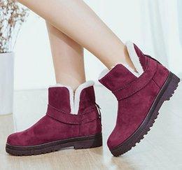 Wholesale The new one fur coat snow boots large women s winter boots plus boots plus cotton boots