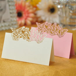 100pcs Lot Butterfly Shaped Laser Cut Wedding Party Table Name Place Cards Favor Decor Wedding Decoration Baby Shower Event Party Decoration