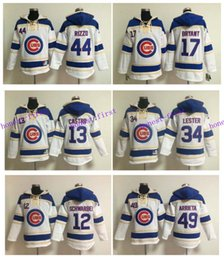 Wholesale Chicago Cubs Hoodie Anthony Rizzo Jersey Kris Bryant Jon Lester Jake Arrieta Baseball Pullover Hooded Sweatshirt