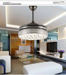 LED ceiling fan light variable expansion modern minimalist living room dining room bedroom folding fan lights ceiling fan 42inch