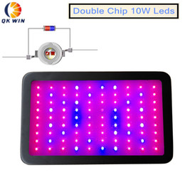 Wholesale Best seller W Led grow light x10w built With double chip W leds for hydroponics lighting LED plant Grow Light hydroponicsdropshipping