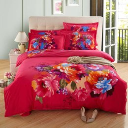 Wholesale Flash Sale Bedding Set Red Rose Bedclothes Best Wedding Comforter Qualified Home Textiles Warm Floral Duvet Queen Size