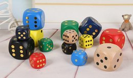 Large Size Wooden Dice 80mm Multi Colored Kids Party Games Wood Dices Funny Toys Games Dices Accessories Decorative Novelties #S32