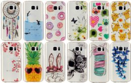 Wholesale Flower Pikachu Poke Soft TPU IMD Case For Galaxy S7 Edge J3 J310 J5 J7 A510 A310 J120 J510 J710 pineapple Dolphin Doughnut Cartoon Gel Skin