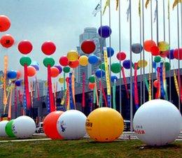 El PVC inflable del helio que hace publicidad del globo El diámetro gigante 2 metros de buena calidad vende al por mayor el envío libre _A desde globos inflables gigantes fabricantes