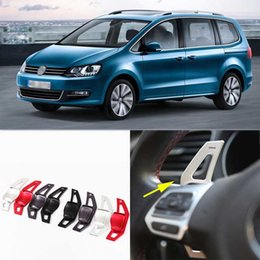 2pcs Brand New High Quality Alloy Add-On Steering Wheel Paddle Shifters Extension For VW Sharan