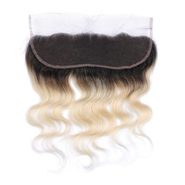 Hot Selling Ombre Color #1B 613 Lace Frontal Closure Blonde 613 Ear To Ear Full Lace Frontal With Baby Hair Bleached