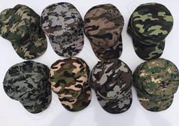 Los sombreros de los hombres en Línea-Unisex de moda del béisbol del camuflaje Caps Sombrero militar del visera de Sun de las mujeres del Ejército deporte de los hombres del casquillo 8 color LJJQ390