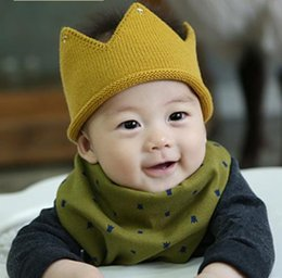 Wholesale new INFANT crown cotton knitted infant newborn baby beanies kids hats boy girl fashion caps winter warm headwear toddller children hat