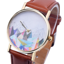 Wholesale The geometric mountain hill watch fashion mens women leather ladies dress quartz casual leisure wrist watches