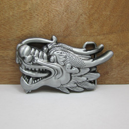 BuckleHome Dragon belt buckle animal belt buckle with pewter and antique brass plating FP-02764 free shipping
