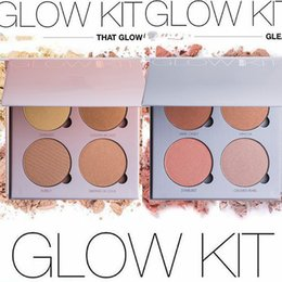 Wholesale 2016 New Branded ABH Glow Kit Makeup Face Blush Powder Blusher Palette Cosmetic Blushes Shades Gleam That Glow Sun Dipped DHL Free OTH255