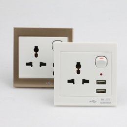 Wholesale Surge protector new wall socket pins universal multi function power outlet with USB socket electrical outlet