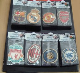 Wholesale hot sale famous football club paper car air freshener for promotional perfumer paper AAA