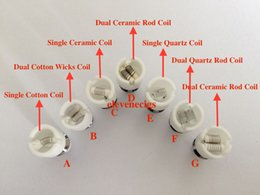 Dual Wax Coil ceramic wax coil For Wax Dry Herb Vaporizer Glass Globe Atomizer fit 510 battery